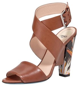 Fendi brown black Sandals