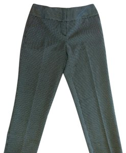 Worthington Trouser Pants Black White Bird's-eye