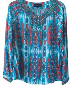 Jones New York Top blue turquoise