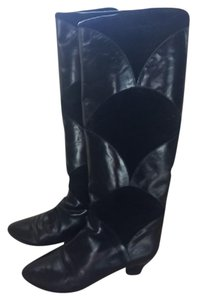Charles David Leather Suede Detailed Black Boots