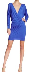 Haute Hippie short dress blue on Tradesy
