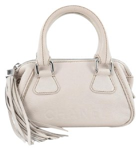 Chanel Leather Satchel in Off White