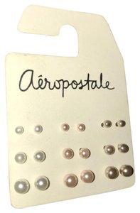 Aéropostale Aeropostale pearl earrings 9 count