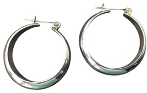Mexico Hand Made-Heavy Silver Hoops .825 Silver Earrings-Hand made- Heavy