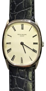 Patek Philippe Patek Philippe 18K Gold Manual-Wind watch Leather Band 8