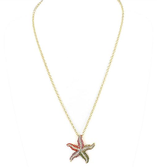 Preload https://item2.tradesy.com/images/multicolor-chic-crystal-pave-starfish-gold-chain-necklace-2057741-0-0.jpg?width=440&height=440