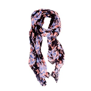 Ivy's Boutique Navy Floral Scarf