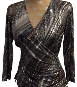 MSK Top Black, Brown and Silver