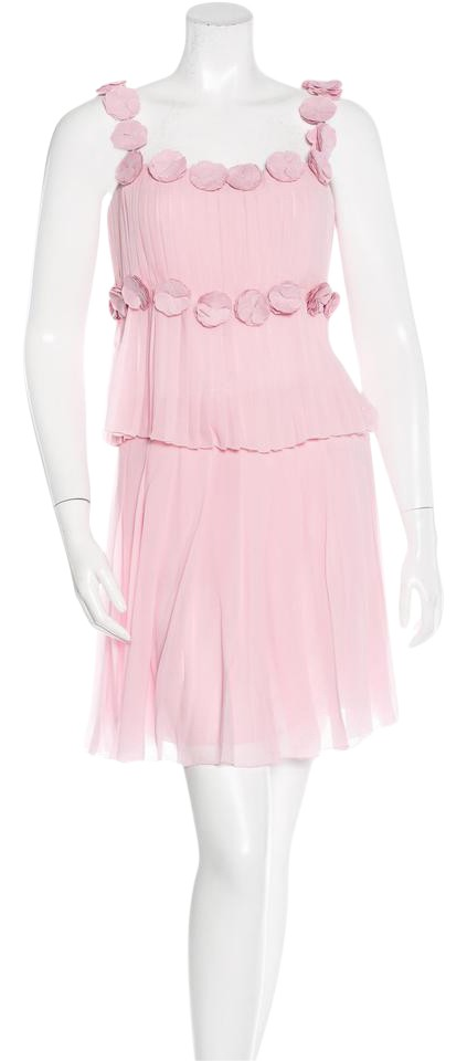 Chanel Camellia And The City Satc Sarah Jessica Parker Pleated Dress