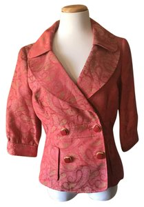 Etcetera Cotton Polyester Pink Paisley Jacket