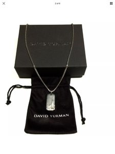 David Yurman David Yurman North Star Dog Tag Pendant & Necklace 20