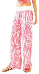 Lilly Pulitzer Relaxed Pants Pink Sun Ray Shimmy Shimmy