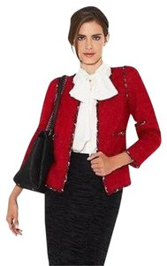 Chanel Tweed Red Jacket