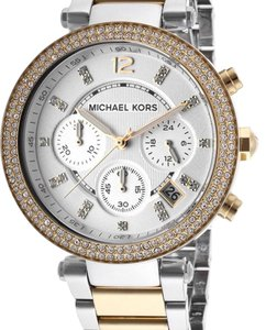 Michael Kors Michael Kors Style Women's Parker Chrono Two-Tone Stainless Steel Silver-Tone Dial