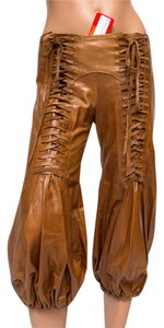 Ingwa Melero Nwt Lace-up Genuine Leather 1970s Suede Capris Brown