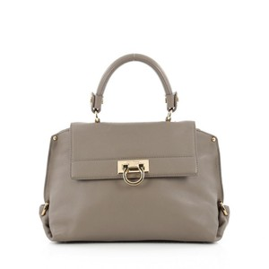 Salvatore Ferragamo Leather Satchel in Grey