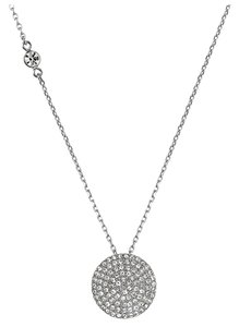 Michael Kors w/BONUS-LAST ONE..Crystal Pave Disc Pendant Necklace