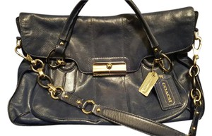 Coach Leather Satchel in Blue