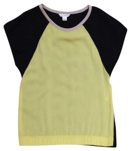 Diane von Furstenberg Dvf Top black and yellow