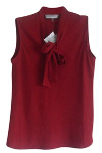 Kasper Tie Front Top Red
