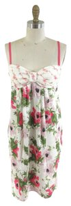John Galliano short dress White, Pink, Green Floral Beauty Pretty Summer Cocktail on Tradesy