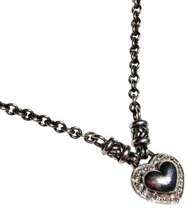 Scott Kay SCOTT KAY DIAMOND HEART Sterling Silver Pendant Chain Necklace