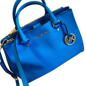 Michael Kors Satchel in bright blue