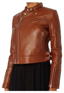 IRO Moto Brown Leather Jacket