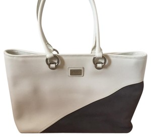 Bolzano Tote in white and grey