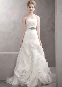 Vera Wang White By Vera Wang Soft White Organza Fit And Flare - Vw351011 Wedding Dress