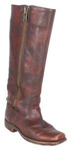 Frye Leather Knee High Riding Fashion Brown Boots
