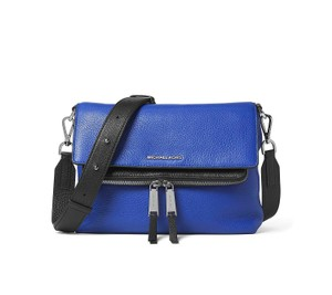 Michael Kors Ezra Medium Messenger Blue Messenger Bag