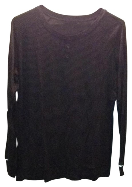 Item - Black with Gold-ish Stripes Activewear Top Size 8 (M, 29, 30)