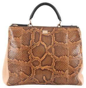 Dolce&Gabbana Python Tote in Brown