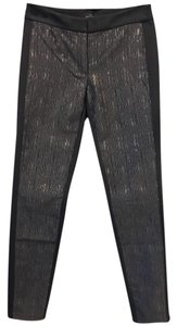 White House | Black Market Skinny Pants Black with Gold