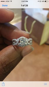 Jared Princess Cut Infinity Band Engagement Ring