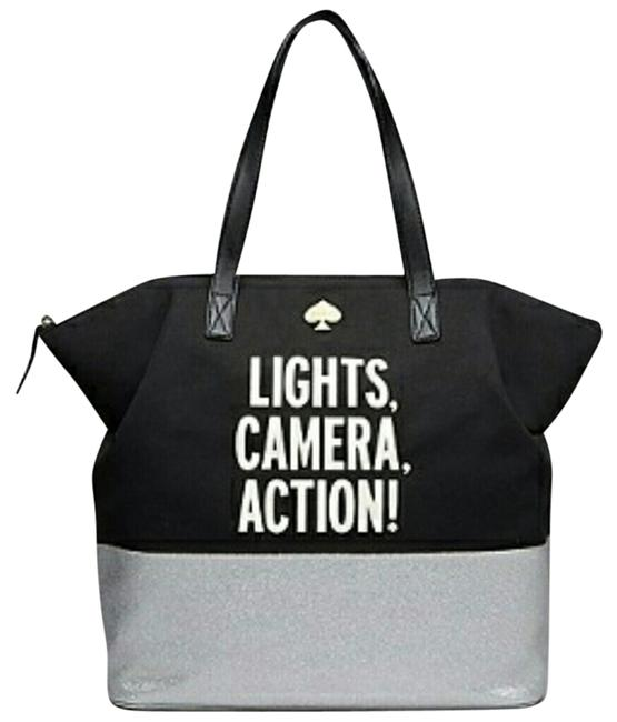 Item - Call To Action Blue Silver Canvas Tote