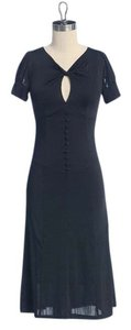 Jaloux Tea Keyhole Twisted Stretchy Luncheon Dress