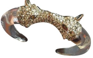 Alexis Bittar Facing Wolves Lucite and Crystal Bracelet