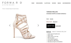 Other Tamara Mellon New Suede Nude Sandals