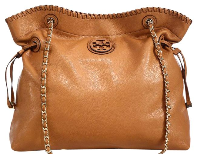 Item - Marion Slouchy Drawstring Tan Pebbled Leather Tote