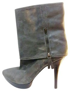 Nine West Leather Ankle GRAY Boots