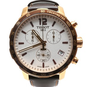 Tissot Quickster Chronograph 42mm Leather band Watch