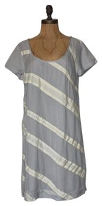 Matty M Sample Striped Wear To Work Shift Trim Dress