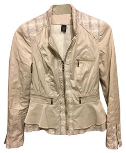 White House | Black Market Beige Cream Whbm Spring Light beige Jacket