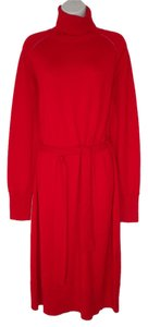 J. Peterman short dress Red Wool Merino Wool on Tradesy