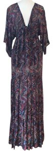 Multi Color Maxi Dress by Blu Moon Bohemian Festival Day To Night Summer Coachella