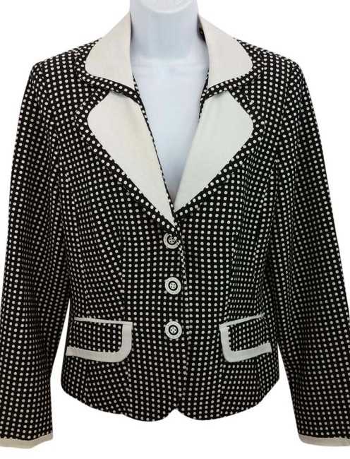 Item - By Ebi Black and White Jacket Blazer Size 14 (L)