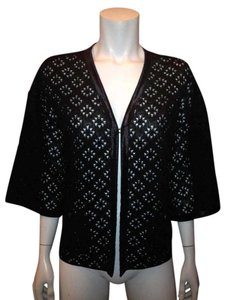 Chanel Perforated Lace Elbow Cardigan