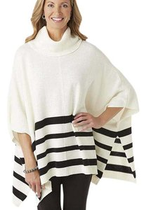 Jaclyn Smith Striped Cowl Neck Classy Cape